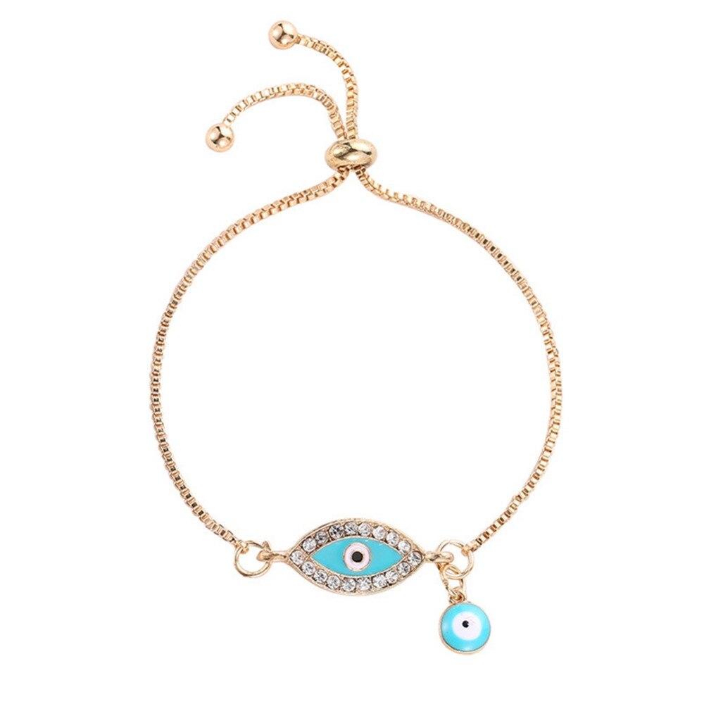 7e0e4cf952ed9 Simple Designer Turkish Gold Evil Eye Bracelet Pave CZ Blue Eye Gold ...