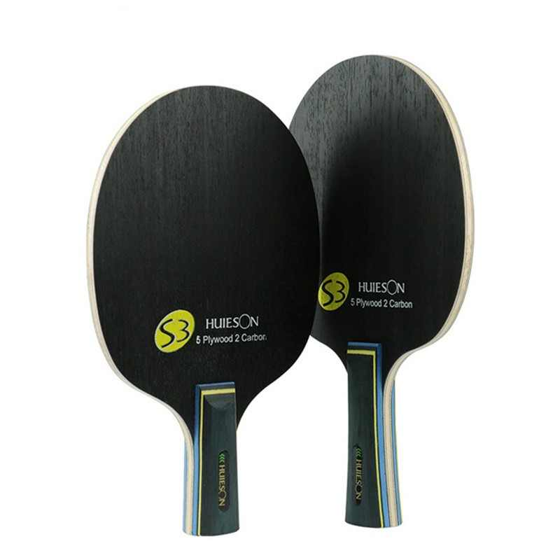 Huieson Professional Fine Handle Carbon Table Tennis Racket Blade 7 Ply Technology Synthetic Wood Ping Pong Paddle Blade S3