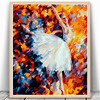 Ballet Girl DIY Digital Paint Print Poster Oil Painting Number Digital Canva Wall Picture Home Living