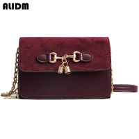 2018 New Mini Women Messenger Bags Famous Brand Design Women Clutch Bags Female Vitnage Nubuck Leather