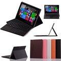 Для поверхностного Microsoft 3 10.8 '' планшет пк 3-в-1 Bluetooth QWERTY клавиатура портфолио стенд чехол крышка - съемный ABS клавиатуры