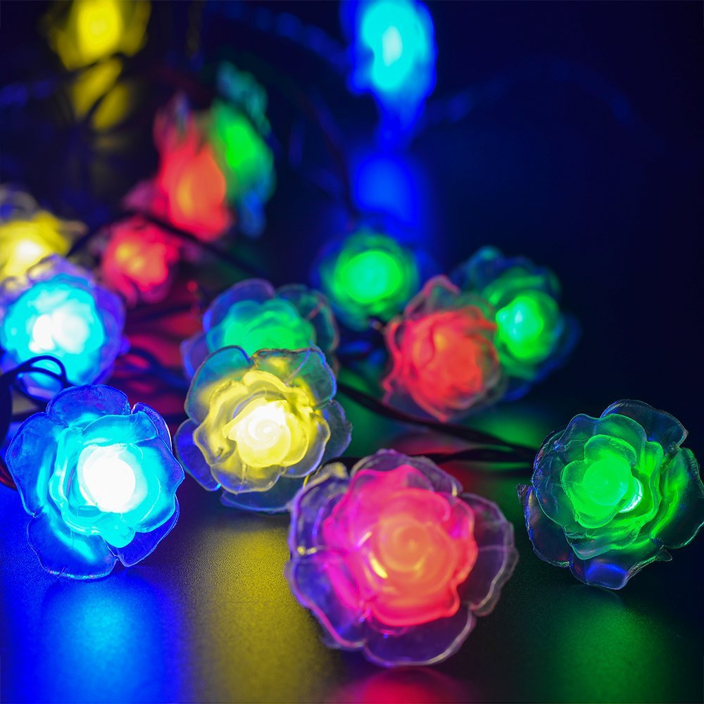 ledimpetus Solar light string 50LED plush ball Christmas garden decoration string lights