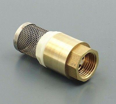 Brass Check Valve with Strainer Filter 3/4 BSP Female Thread