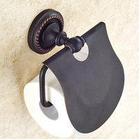 Oil Rubbed Bronze Toilet Bathroom Kitchen Wall Mounted Roll Paper Holder Home Decoration KD663