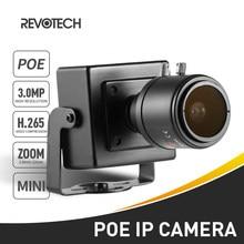H.265 POE HD 3MP IP Della Macchina Fotografica 2.8-12mm Obiettivo Zoom Manuale di 1296 P/1080 P Indoor Mini tipo di Sistema di Sicurezza CCTV Video Surveillance Cam
