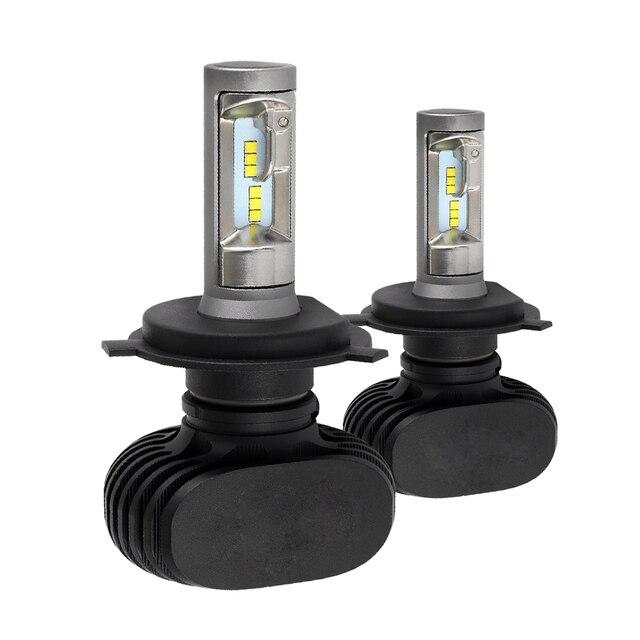 CROSSLEOPARD S1 8000LM/Set LED de la linterna del coche de la nueva actualización luz H1 H3 H4 H7 H11 H13 H27 9004 HB3 9006 HB4 9007 bombillas de lámpara