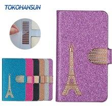 Для Coolpad Note 5 Lite Case Luxury Bling Флип Бумажник Effiel Башня Алмаз 2017 Новый Горячий PU Кожаный чехол TOKOHANSUN бренд