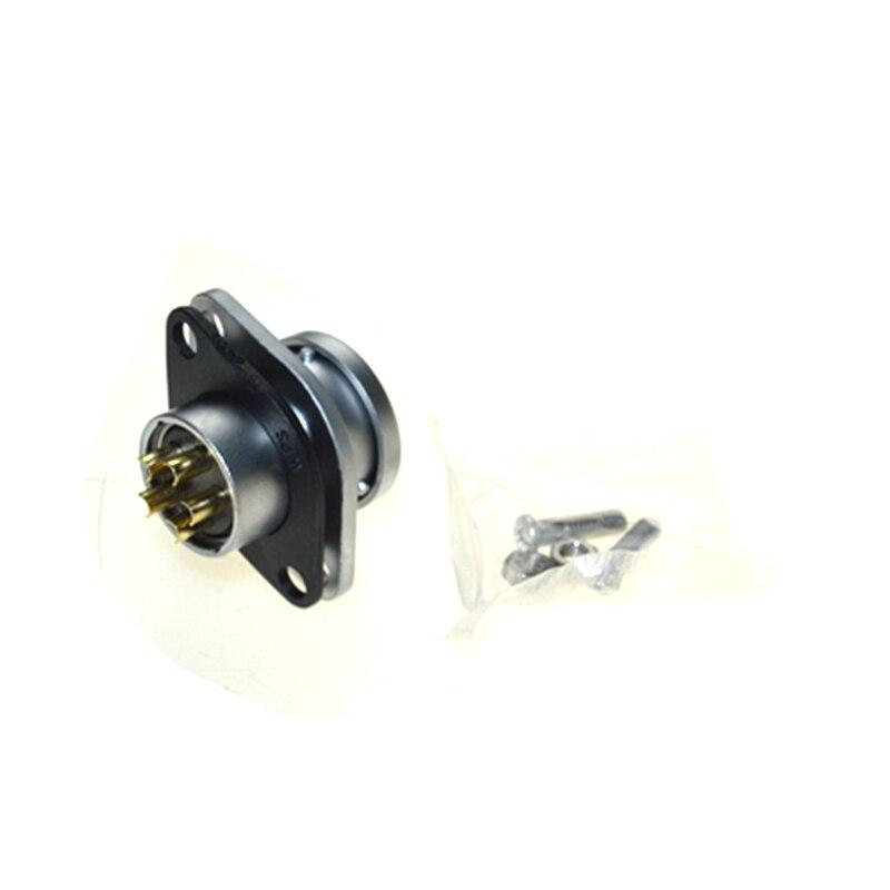 AC 500V 30A 20mm Base 5 Pins to Socket Alumnium Aviation Connector Plug