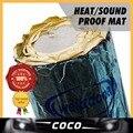 Estilo do carro 100x100 cm Som Isolamento Deadener Ruído Assassino Silencioso Escudo de Calor Mat Folha De Alumínio Kit Frente Fender/Bonnet/capa