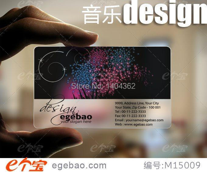 Customized Business Card Printing Plastic Transparent /White Ink PVC Business Card One Faced Printing 500 Pcs/lot NO.2198