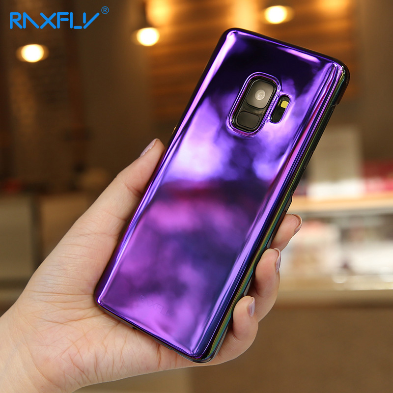 RAXFLY For Samsung S9 Case Plating Gradient Luxury Cover Hard Plastic Coque For Samsung Galaxy S9 Ultra Thin Transparent Fundas