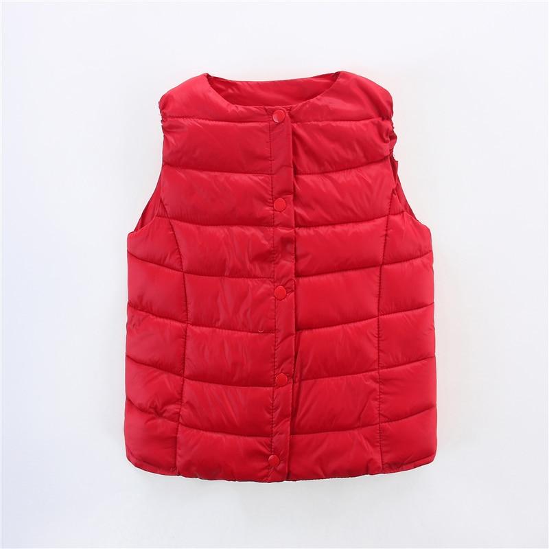 Autumn Winter Boys Girls Vest Jacket light white duck down vest Kids Waistcoat Warm baby Vest