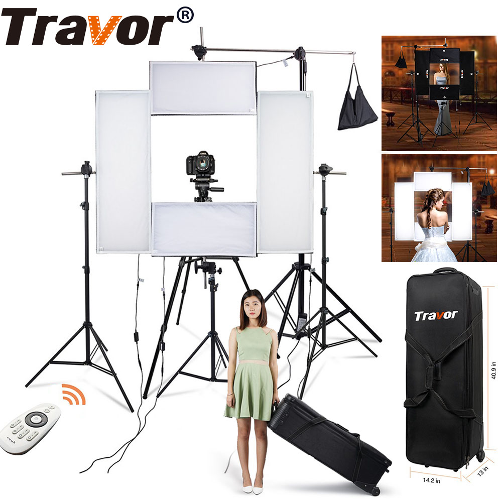 Travor 4in1 Flexible Led video light Headshot Light 100w 5500K CRI95 with 2.4G Wireless Remote control for portrait photography travor flexible led video light fl 3060 size 30 60cm cri95 5500k with 2 4g remote control for video shooting
