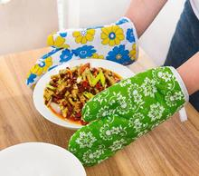 1PAIR Kitchen Cooking Microwave Oven Mitt Insulated Non-slip Glove Thickening High Temperature Oven Glove NX 010 peppermint snowman holiday oven mitt