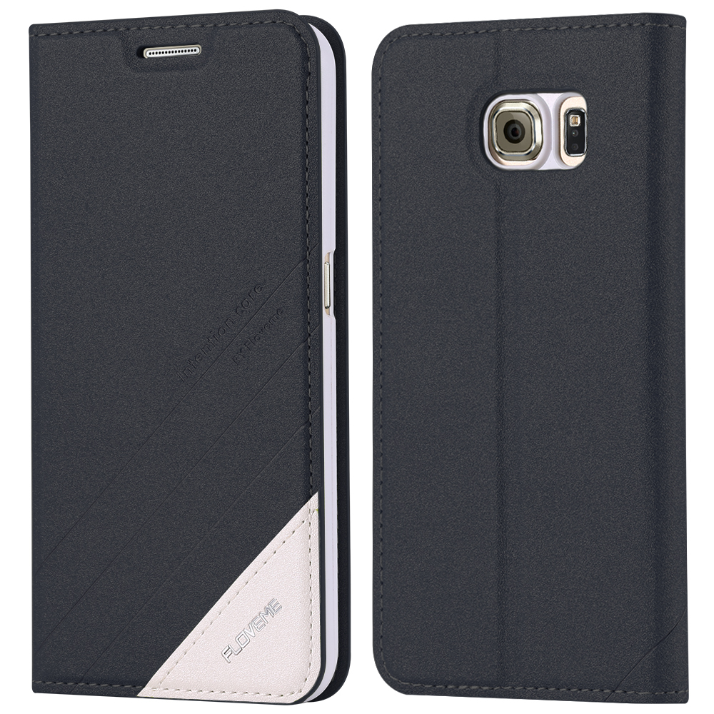 FLOVEME S6 <font><b>Edge</b></font> Leather Flip Case For Samsung Galaxy S6 S6 <font><b>Edge</b></font> Plus S7 <font><b>Edge</b></font> <font><b>Note</b></font> <font><b>7</b></font> 5 Wallet Stand Card Holder Cover Sleeve Capa