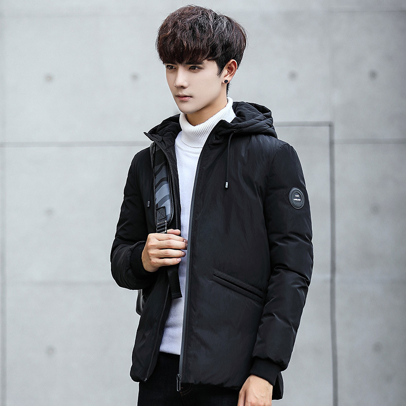 2018 hot sale winter mens Short version Thicken duck down jackets with hood Breathable windproof waterproof keep warm coat