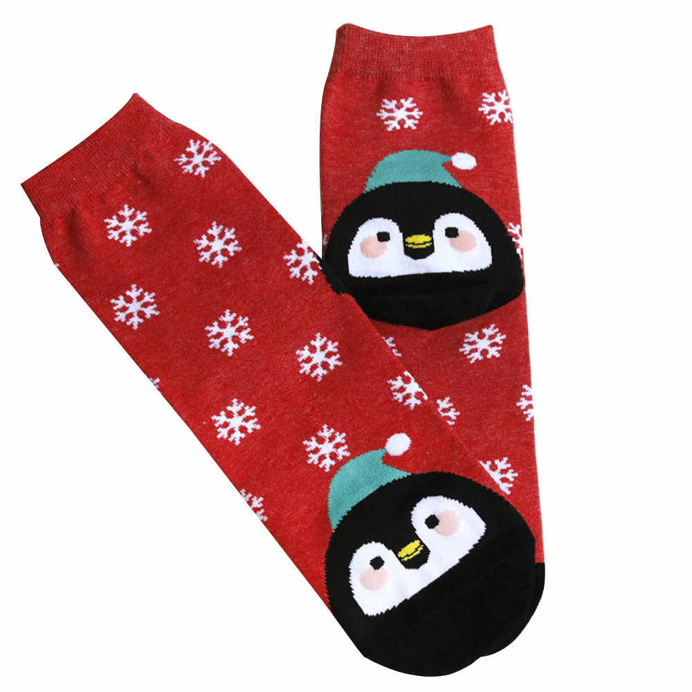 2018 leuke sokken vrouwen Mode Unisex Kerst Vos Sneeuwvlok Print Meias Vrouwelijke Lage Ankle Femme Funny Hot Koop HSEP3