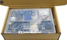 عدة بادئ اردوينو UNO r3 مع ميجا 2560/UNO R3 /Lcd1602 I2C /Hc sr04/HC SR501/RC522/SG90/ Dupont كابل في صندوق بلاستيكي