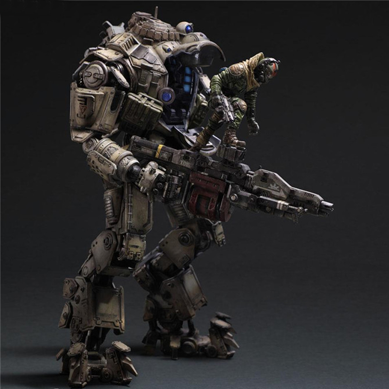 26cm Play Arts Kai Movable Figurine Titanfall Atlas PVC Action Figure Toy PA Doll Collection Model Gift 27cm play arts kai movable figurine superhero thor odinson pvc action figure toy doll kids adult collection model gift