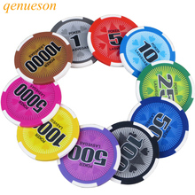 New 25PCS/Lot 14g Board Game Clay Film Chips Coins Baccarat Texas Holdem Mahjong Double Color pentagram Clay Poker Playing Chips holdem light набор для покера holdem light на 240 фишек без номинала page 5