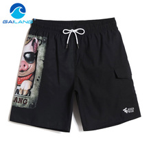 Gailang Brand Summer Quick Dry Beach Shorts Casual Swimwear Swimsuits Men's Hip Hop