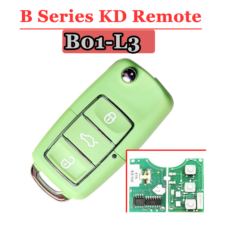 Free shipping (1 piece)Keydiy B01L-03 Luxury 3 Button Remote Key with Green colour for URG200/KD900/KD200 free shipping 1 piece keydiy kd900 nb07 3 button remote key with nb att 46 for touareg a8 renault etc