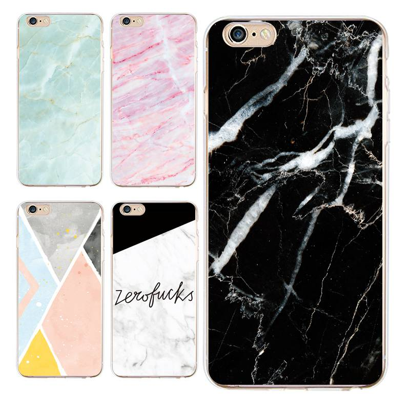 Marble Soft Clear TPU Phone Case For iPhone 4/4s 5 5s 6 6plus 7 8plus For iPhone x Protector Silicone Fundas Cover Free Shipping
