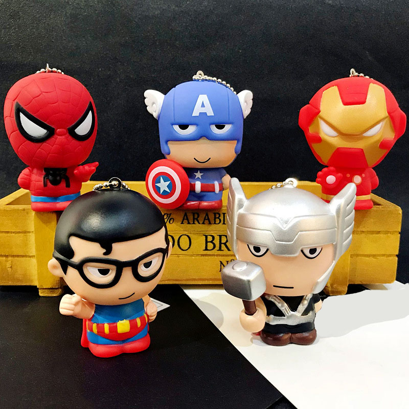 Toys & Hobbies Careful 20pcs/lot Soft Pvc The Avengers Figures Super Hero Captain America Action Figures Spider Man Model Action Toys Keychain Pendant High Quality And Inexpensive