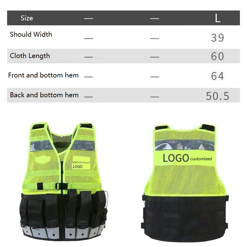 Thickening High Multifunctional Tactical Reflective Vest Customized Printing Reflective WordsThickening High Multifunctional Tactical Reflective Vest Customized Printing Reflective Words