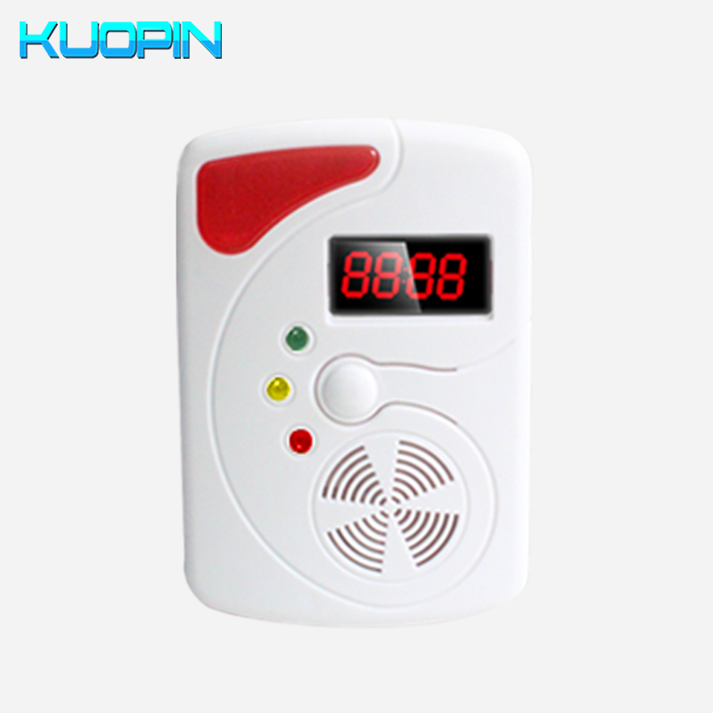 Sensitive Standalone LED Display Voice Prompt LPG LNG Coal Natural Gas Detector Combustible Gas Alarmer For Home Security Safety