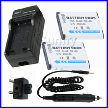 Батарея (2 шт) + Зарядное устройство для Toshiba px1686, px1686e-1brs и camileo BW10 Водонепроницаемый Full HD видеокамера