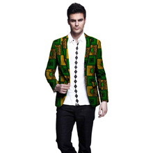 Africa Style Men Blazers High Quality Single Breasted Suit Jacket Dashiki Print Jackets African Clothing For Wedding