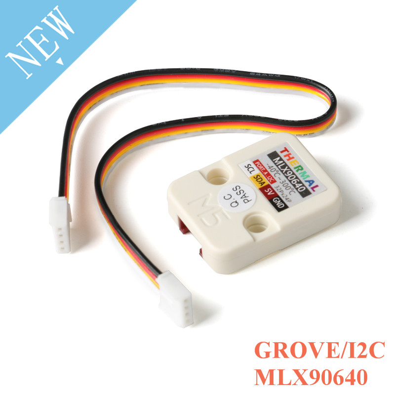 M5Stack Mlx90640 Series Thermal Camera Module Thermal Imaging Sensor MLX90640 With GROVE/I2C Development Board 32x24P M5GO FIRE