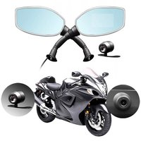 Motorcycle Rearview Mirror Camera DVR Auto Video Recorder Dash Cam Loop Recording Dual Lens Camcorder Support TF Card