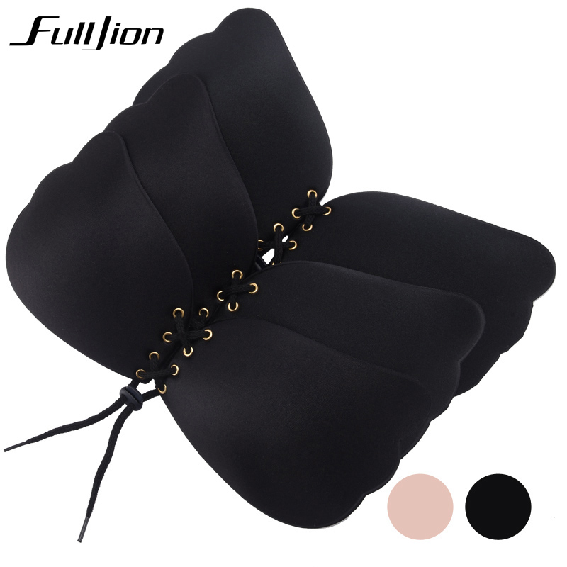 Fulljion New Sexy bra Women Self Adhesive Strapless Bandage Stick Gel Silicone Push Up Invisible Bra seamless Intimates bras