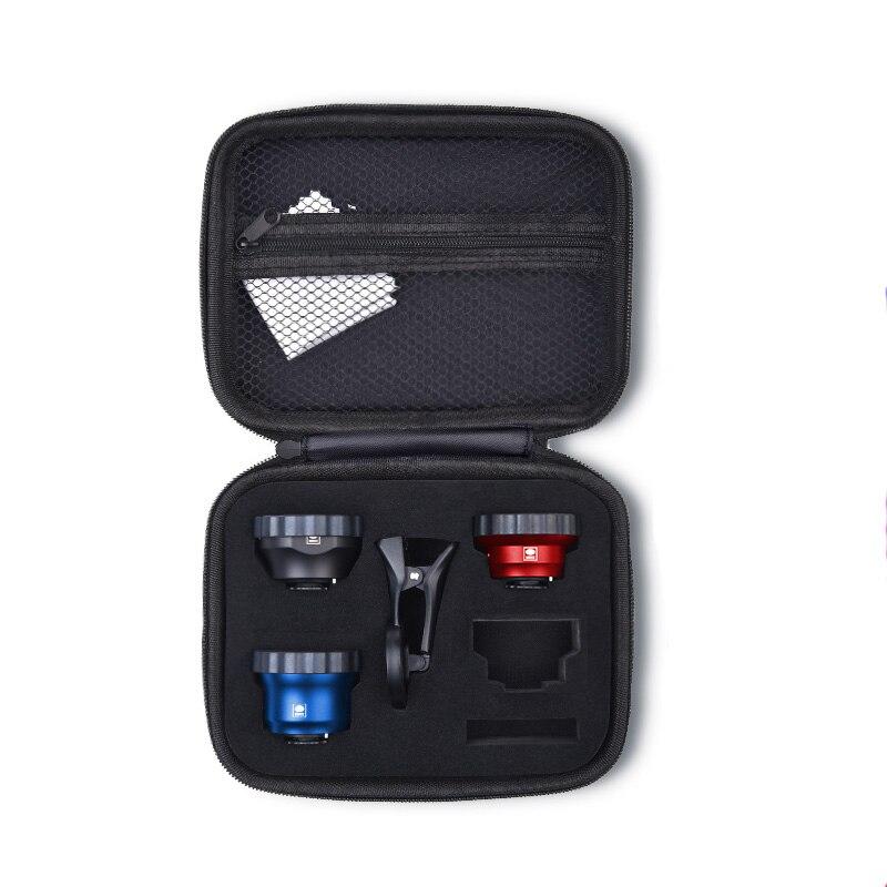 Sirui 3 Lens Mobile Phone Kit Wide Angle Fisheye Portrait Macro