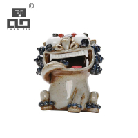 TANGPIN handmade ceramic tea pets chinese lion cute porcelain teapets chinese tea accessories