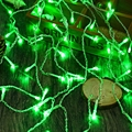 Waterproof 4M 120 LEDs Droop 0.6M LED Christmas lights Curtain Icicle String Light for Holiday/Party/Decorative Lamp AC 110-220