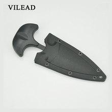 VILEAD Multifunctional Outdoor Necklace Mini Straight Knife Open Letter Tea Training Defense Portable Tool Pendant