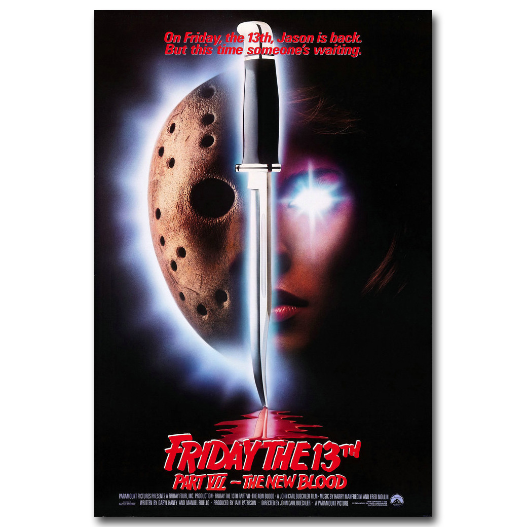 Friday The 13th Art Silk Poster Print 13x20 24x36 inch Jason Voorhees Classic Horror Movie Picture for Room Wall Decor 011