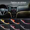 LEADTOPS 100cm*30cm New Car-Styling Door And Central Control Panel Car Sticker Waterproof Change Color DIY Wrap roll sticker BH