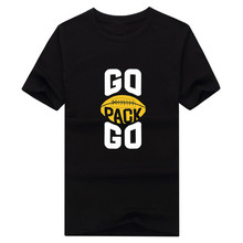 2017 New 100% Cotton green bay GO PACK GO T-shirt funny packers T Shirt 0116-7