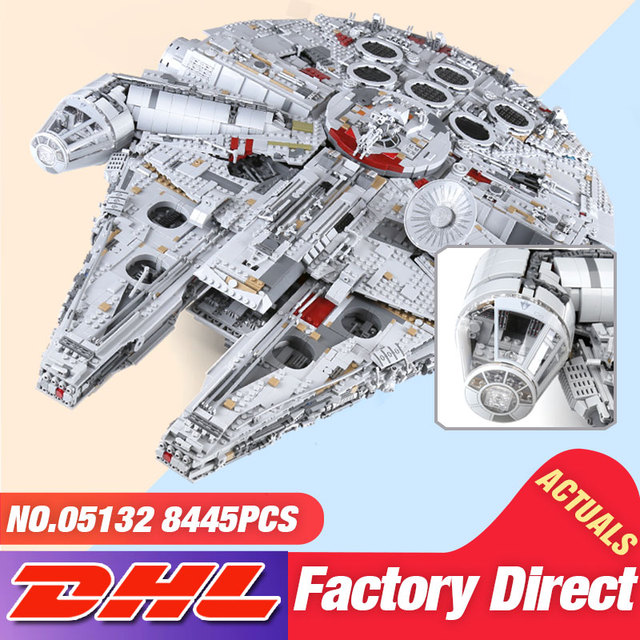 DHL 05132 Star Toy Wars The 75192 New Millennuium Falcon Star Destroyer Set Building Blocks Bricks Kid Toys Christmas Gift