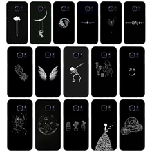 264AQ Line Art Face Abstract Pattern Soft TPU Silicone Cover Case for
