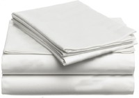 100 Egyptian Cotton 1600 TC Bedding Set Sweden Super King Size 2 4 M Bed White