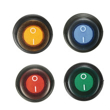 4 pcs colors 12V On/Off Rocker Switch Waterproof 3 Pin SPST LED illuminated for car maring boat