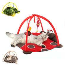 Funny Hammocks For Cats Cartoon cat playing Tent Scratch Doard Mat Bed mobile activity