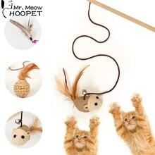 Игрушка для кошек Hoopet, прорезыватель, разноцветный, птица, перо, товары для кошек, ловушка для кошек, прорезыватель, игрушки, товары для кошек