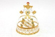 Wedding Dress Shape Metal Trinket Box for Wedding Party Favor GIfts