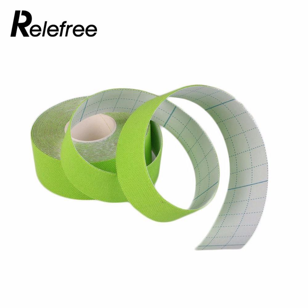 relefree Aid Bandage Support Top Quality 1PC Elastic Cotton Roll Adhesive kinesiology tape Injury Muscle Strain Protection Tape